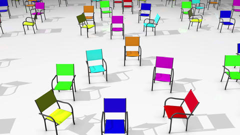 Abstract Chair Colorful Animation