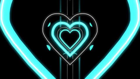 Heart Neon Tunnel Animation