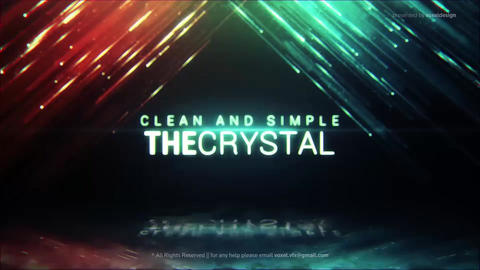Crystal Cinematic Title After Effects Template