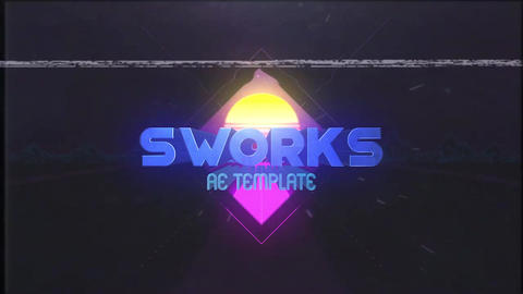 80s Logo Reveal After Effects Template