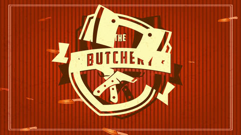the butchery mark concept with aged sculpted symbol with paper texture over lined scene sharing a Animation