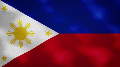 Philippine dense flag fabric wavers, background loop Animation