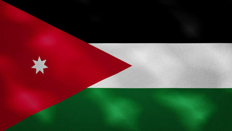 Jordan dense flag fabric wavers, background loop Animation
