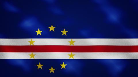 Cape Verde dense flag fabric wavers, background loop Animation