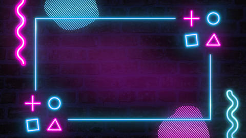 Animated background in the form of a neon sign Animation
