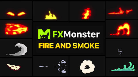 Fire And Smoke Elements Motion Graphics Pack Animation