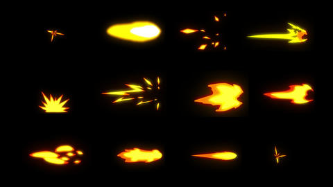 Gunshot Elements | Motion Graphics Pack Animation
