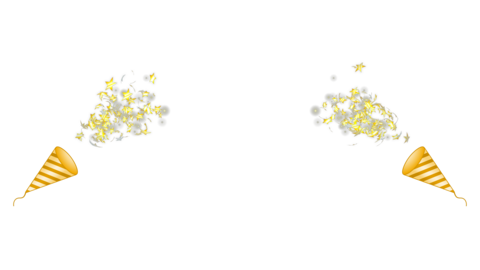 Party popper2-golden-star Animation