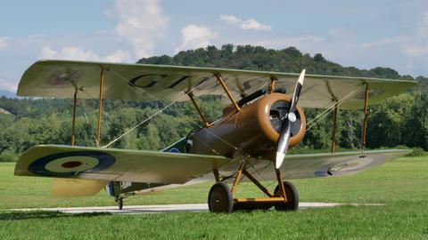 Sopwith Camel British First World War british vintage biplane fighter aircraft Live Action
