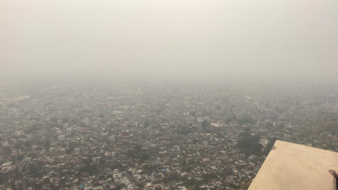Jaipur, India - View from above the old historic fortress part 15 Live Action