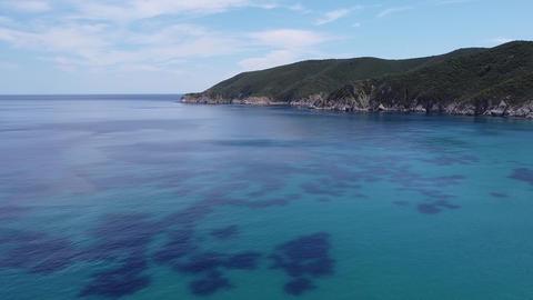 Mediterranean Greek landscape beach drone shot Live Action