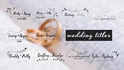 Wedding Titles Pack After Effects Template