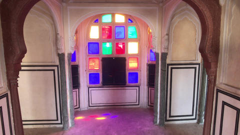 Jaipur, India - interior rooms of the historic palace part 3 Live Action