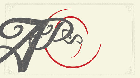 pasta menu idea with delicate elegant calligraphy over red spiral design over old fashioned Animation