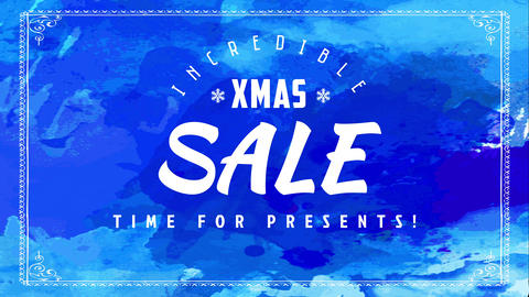 incredible xmas sale sign board with encouraging its time for presents slogan for mall stores Animation