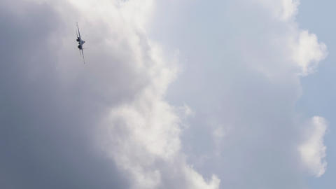 Jet military plane, air-defence fighter Live Action
