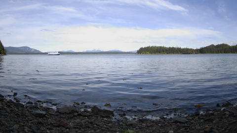 Time Lapse Motion Of The Tide Rising In Pavlof Harbor Off Of Chichagof Island In Southeast, Alaska stock footage