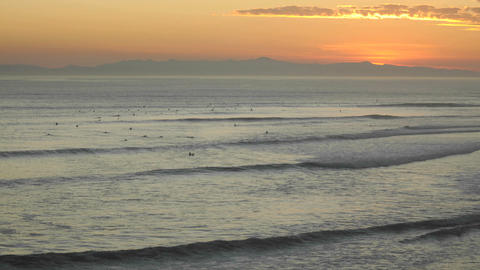 Time lapse close up of surfers and waves at Ventura Point... Stock Video Footage
