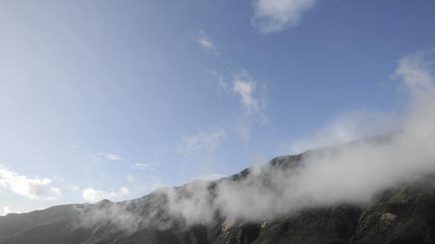 Time lapse of clouds swirling over the Santa Ynez... Stock Video Footage