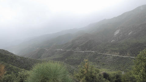 Time lapse of fast rainstorm clearing over the Santa Ynez... Stock Video Footage
