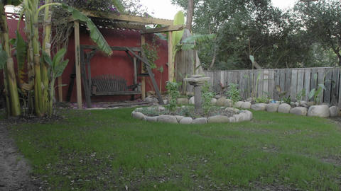 Long term time lapse of a new lawn growing in a backyard... Stock Video Footage