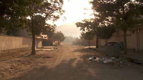 A POV walk along a street in Kabul, Afghanistan reveals a... Stock Video Footage