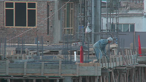 Construction work in Kabul, Afghanistan Stock Video Footage