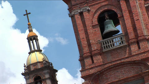 Church bells occupy a tower Footage
