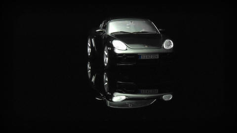 A car revolves on display Stock Video Footage