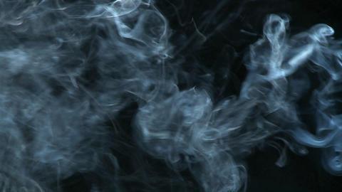White smoke flows through the air Stock Video Footage