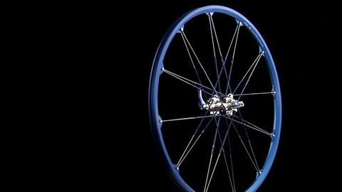 A blue wheel revolves Footage