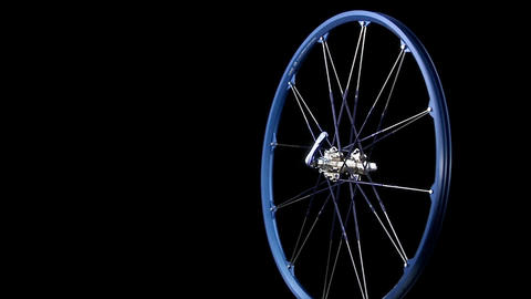 A blue wheel revolves Stock Video Footage