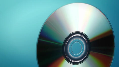 A DVD disc rotates Stock Video Footage