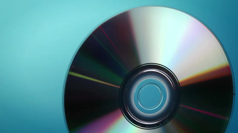 A DVD disc rotates Footage