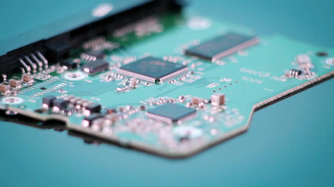A circuit board revolves Stock Video Footage