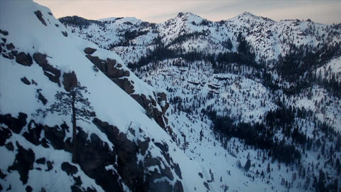 Mountains are covered in snow Stock Video Footage