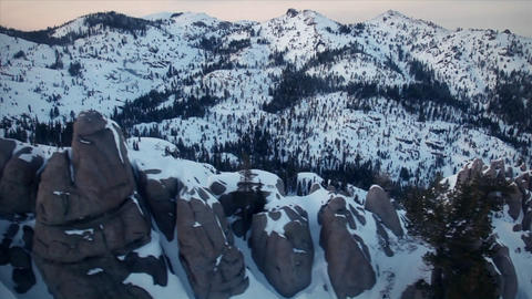 Mountains are covered with snow Stock Video Footage