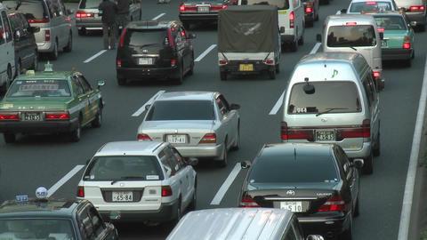 Rush hour traffic jam in Shibuya, Tokyo, Japan Stock Video Footage