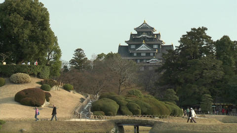 Koraku-en Park, said to be one of the country's most... Stock Video Footage
