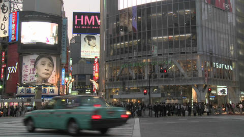 Time lapse of rush hour in Shibuya, Tokyo, Japan Footage