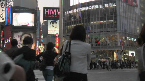 Time lapse of rush hour in Shibuya, Tokyo, Japan Stock Video Footage