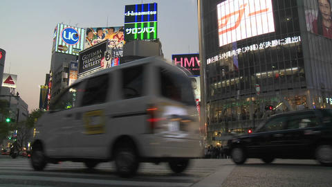 Traffic in Shibuya, Tokyo, Japan Stock Video Footage