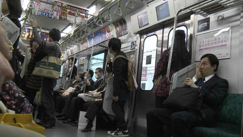 Time lapse on the Tokyo subway system, Japan Footage