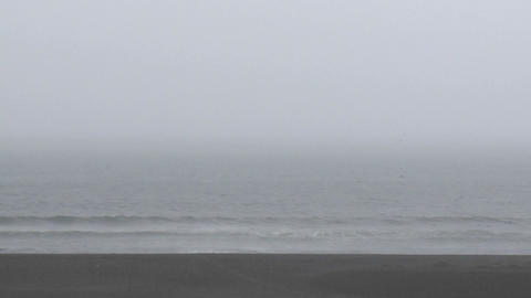 Rain, fog and surf at Buchepureo, Chile Footage