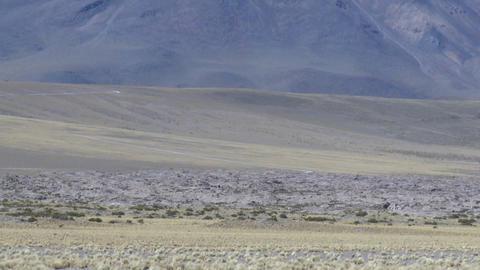 Vertical pan of a barren volcanic peak near San Pedro de Atacama, Chile Footage