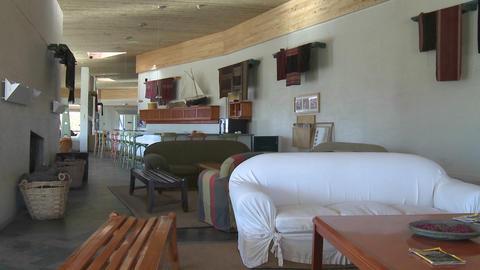 Interior view of the Explora Hotel in San Pedro de... Stock Video Footage