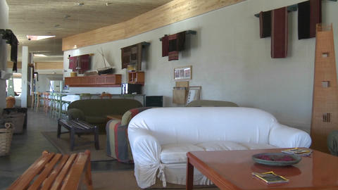 Interior view of the Explora Hotel in San Pedro de Atacama, Chile Footage