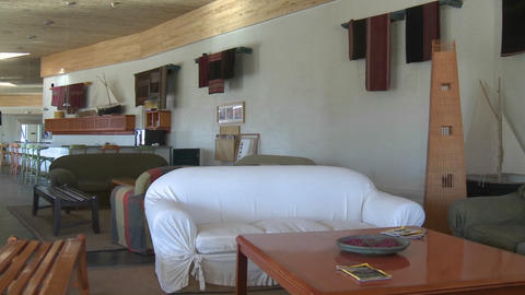 Interior view of the Explora Hotel in San Pedro de... Stock Video Footage