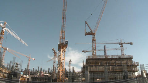 High rise construction in Santiago, Chile Stock Video Footage