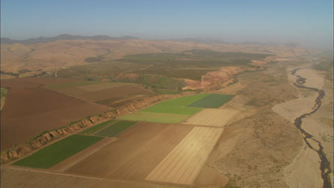 Helicopter aerial of the Santa Maria Valley, California Footage